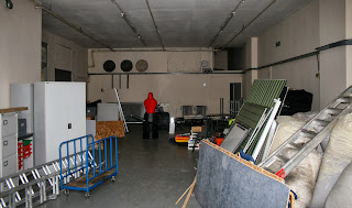 Inside the (currently used as storage) unit