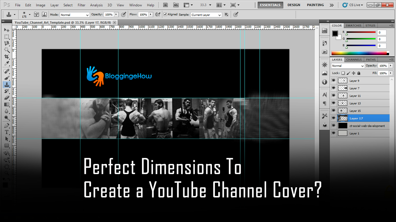 Perfect Dimensions To Create a YouTube Channel Cover? - Free PSD Template