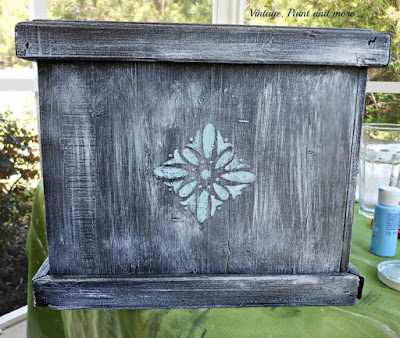 Vintage, Paint and more.. detail painting for a stenciled flower box
