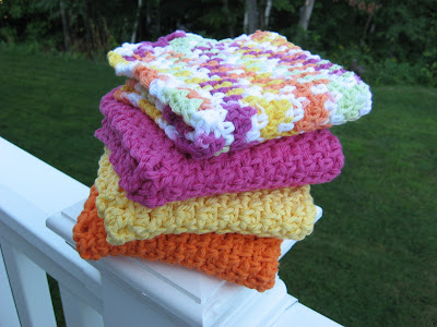 Over the Rainbow Crocheted Cotton Wash Cloths