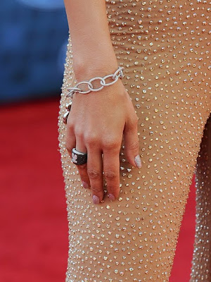 Jennifer Lopez Gemstone Cocktail Ring