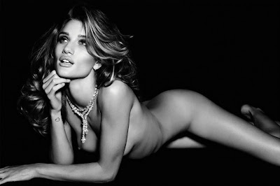 Rosie Huntington-Whiteley Nude in Vogue magazine