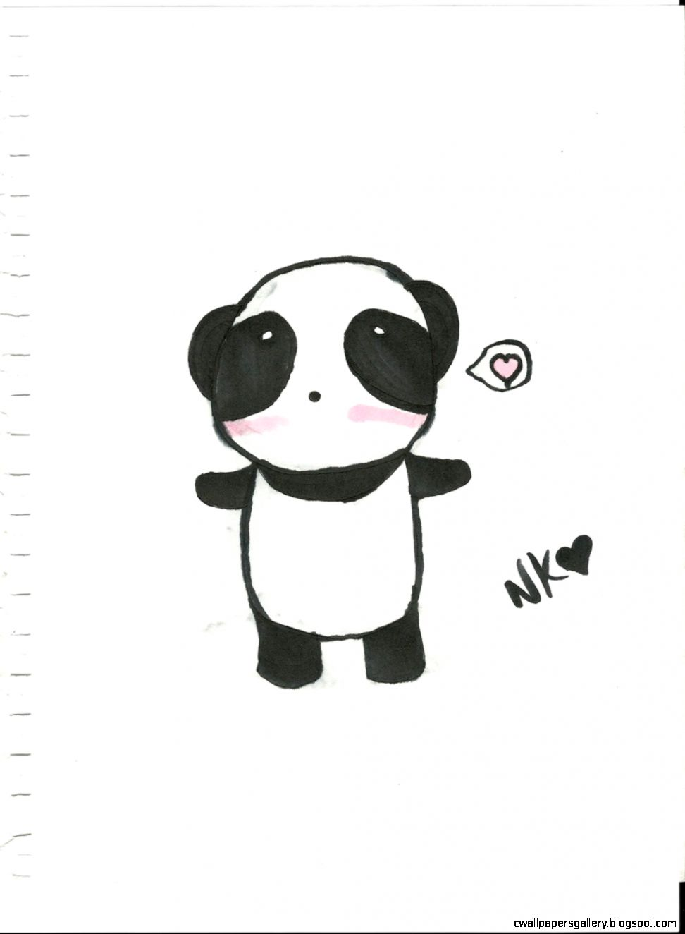 Cute Panda Drawing Tumblr | Wallpapers Gallery