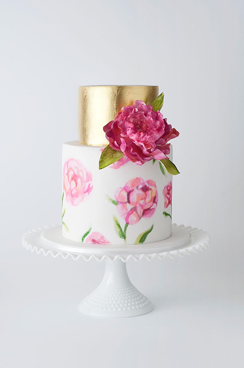 Sencillas y originales ideas de cómo decorar pasteles pintados a ...