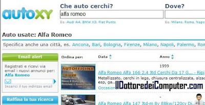 autoxy motore ricerca auto