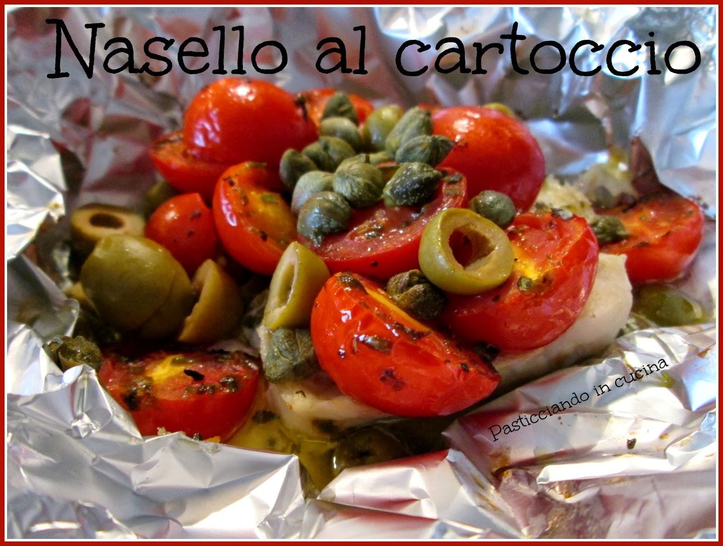Pasticciando in cucina: Pesce al cartoccio (nasello, merluzzo ...