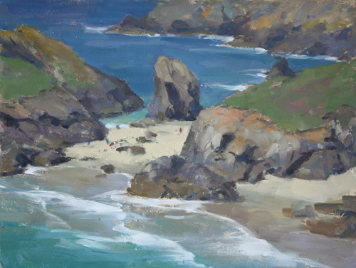 Oil Paintings Cornwall Cliffs