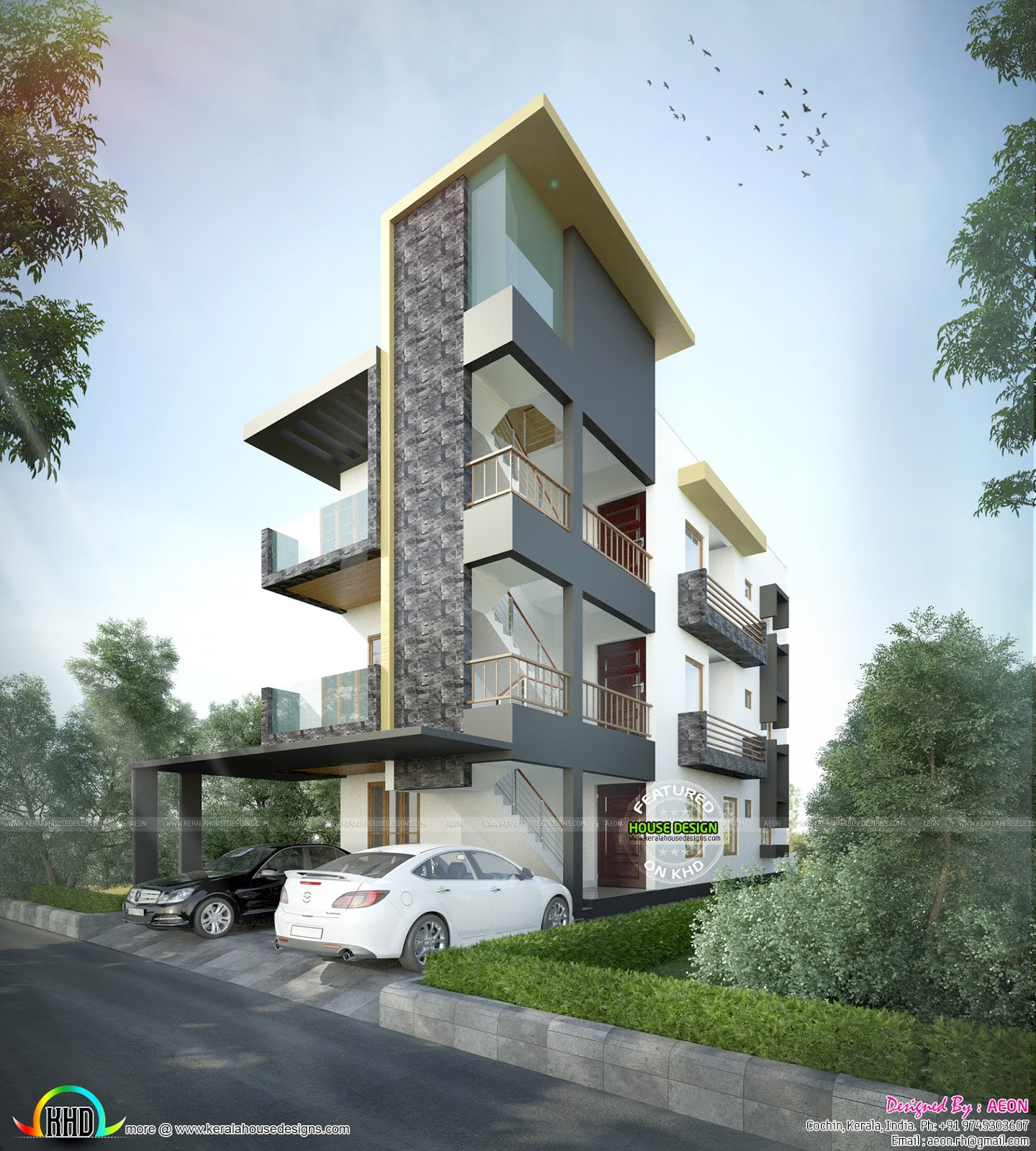 2700 In 4 Cents Of Land Kerala Home Design And