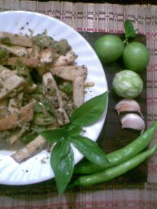 tofu with lemon n basil