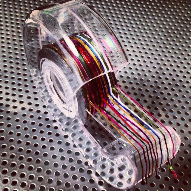 rangement striping tape nail art idée astuce organisation