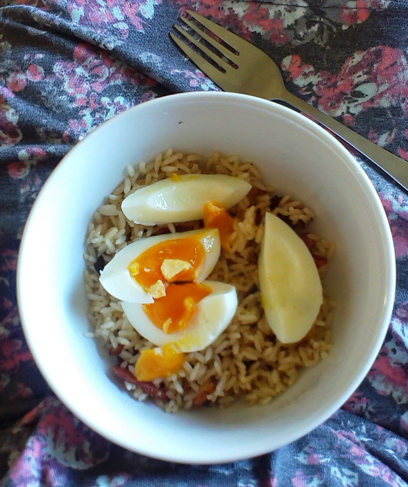 Bacon and Eggs Kedgeree-style