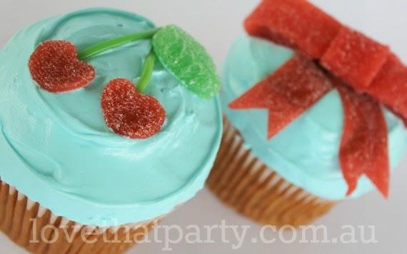 simple cake, birthday cake, easy cake decorating, kids birthday cake, cherry cupcake