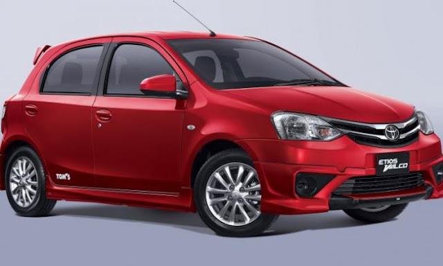 Tampak Full Mobil Toyota Etios Valco Tom's
