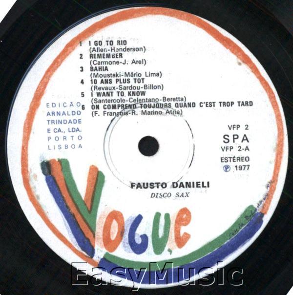 Fausto Danieli Son Saxophone Et Son Orchestre - Hits Sax
