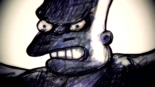 nuncalosabre. Film Noir - The Simpsons Couch Gag Opening by Bill Plympton