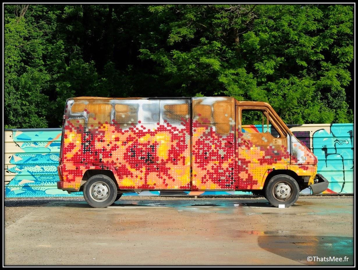 camion panier gendarmerie Festival Street Art In Situ Fort d'Aubervilliers