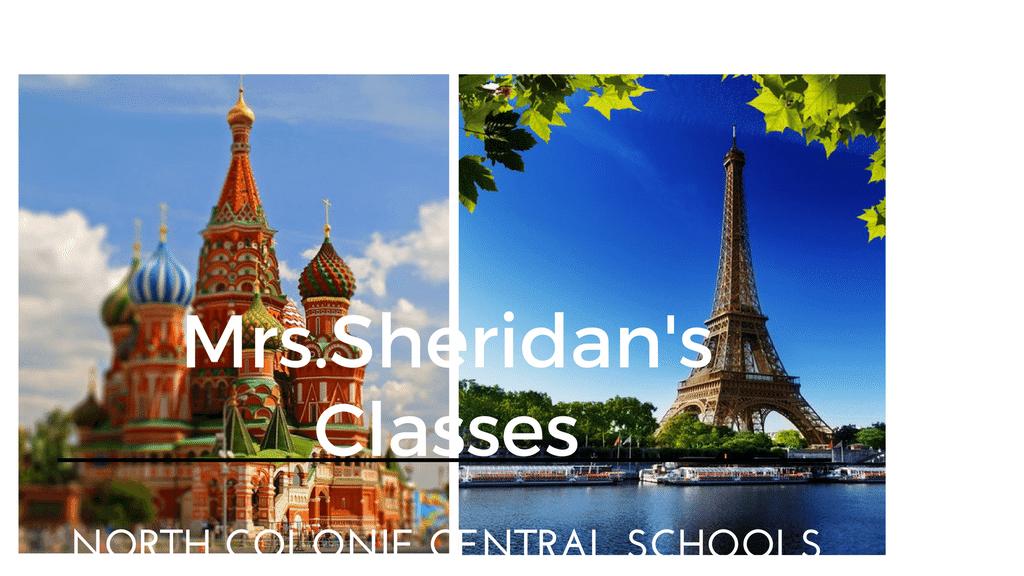 <center>Mrs. Sheridan - NCCS</center>