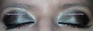 Black and silver eye look