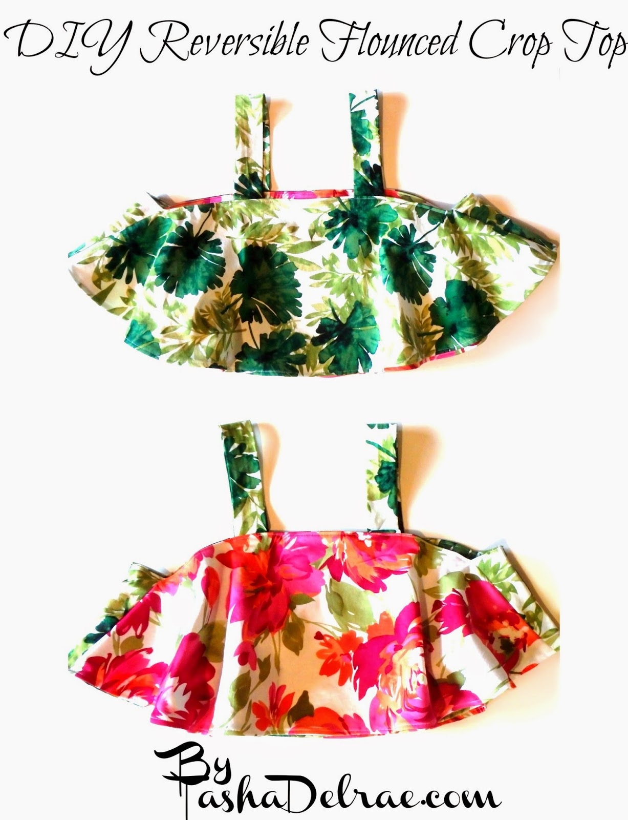 Sew a Crop Top, Floral, Reversible Shirt