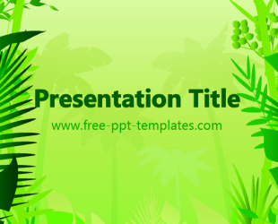 Jungle Ppt Template Free Powerpoint Templates