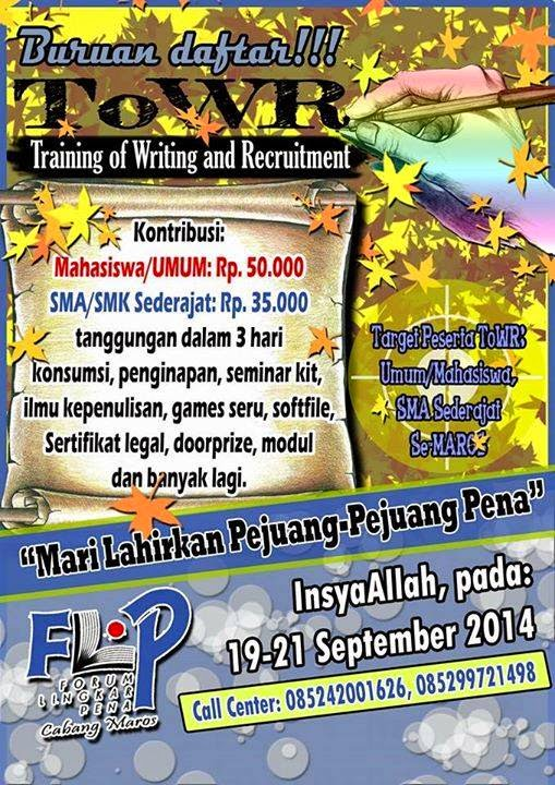 Training Of Writing and Recuitment FLP Maros