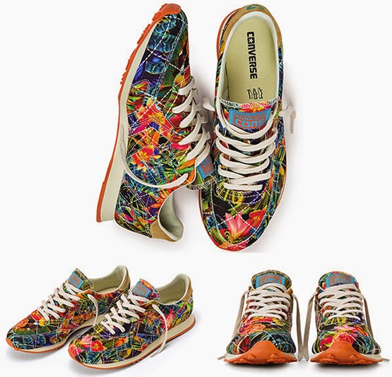 Converse Blue Man Sneakers estampa floral tropical