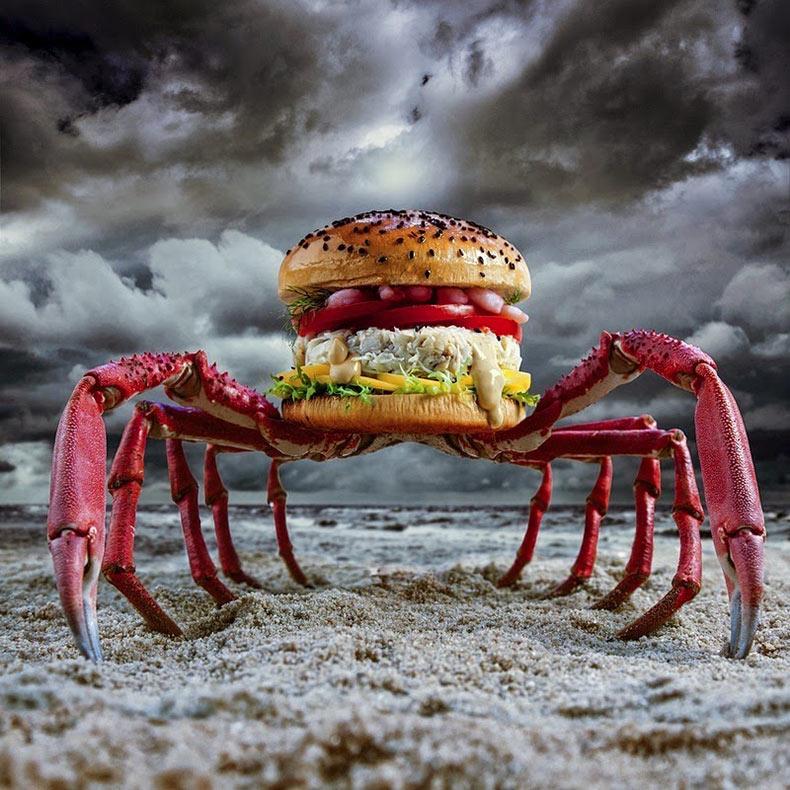 Diseños creativos de hamburguesa por Fat & Furious Burger
