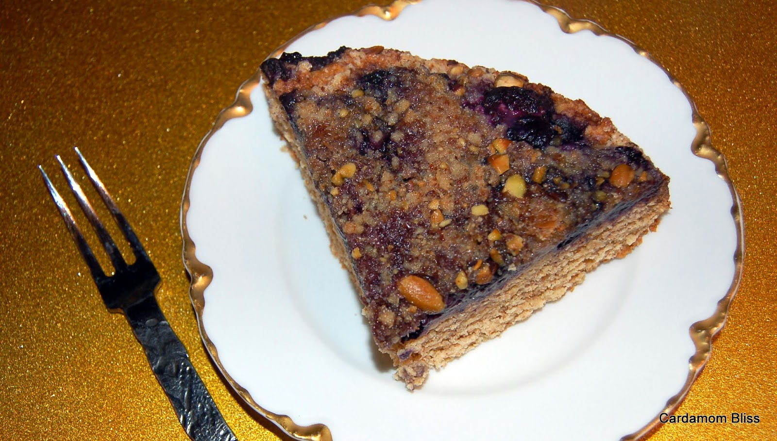 Lavender Lemon Blueberry Buckle