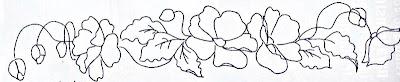 pintura em tecido risco para pintar papoulas