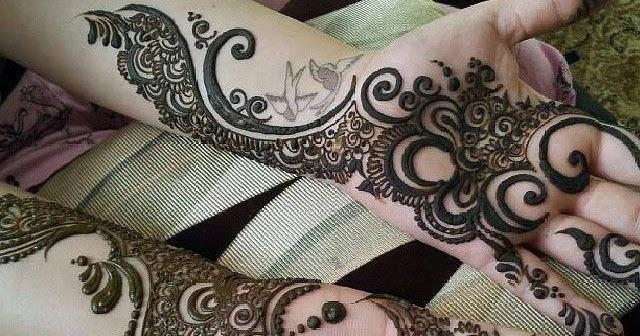 Mehndi Front Hand : Stylish front hand mehndi border designs for