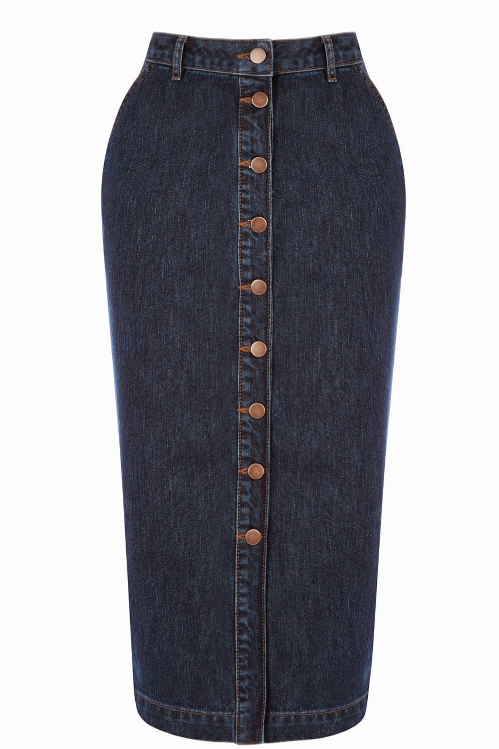 warehouse denim skirt,