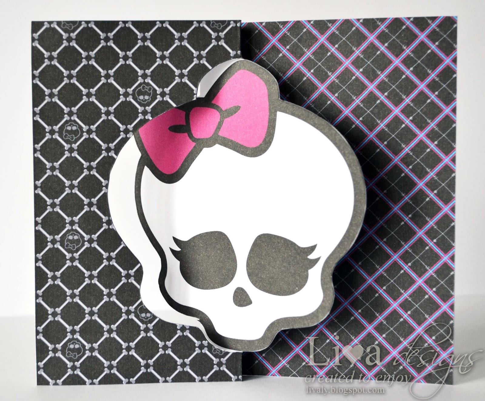 Livas crafts: Monster High Party Invitations