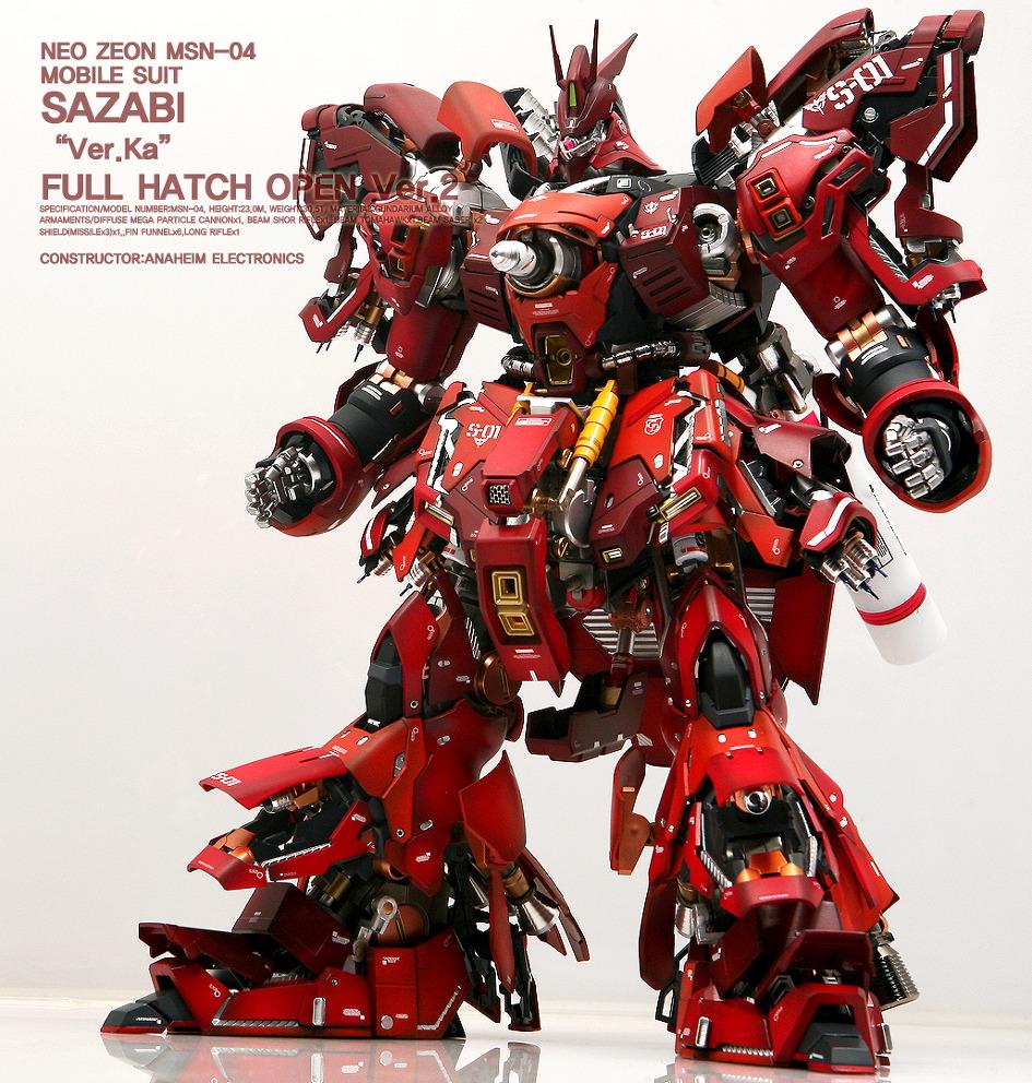 Custom Build: MG 1/100 MSN-04 Sazabi Ver. Ka Full Open ...