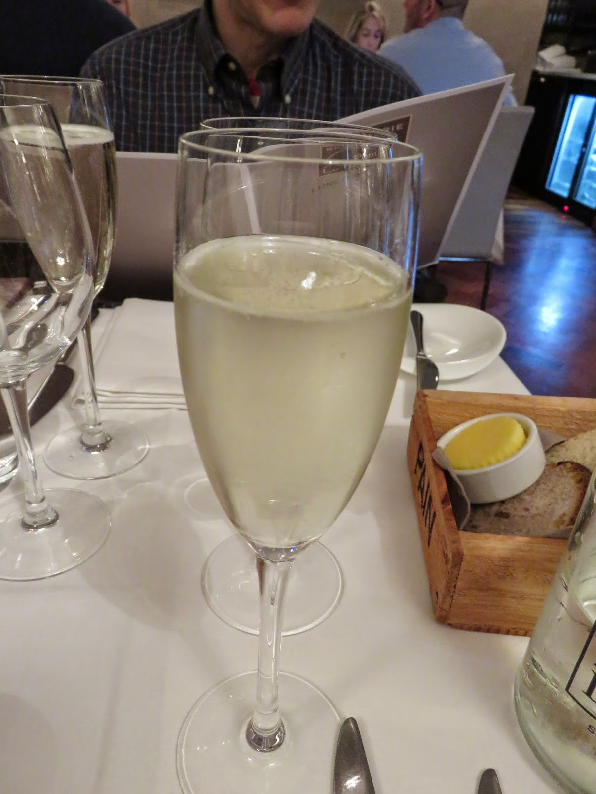 Glass of Prosecco at Brasserie Le Pont in Dublin