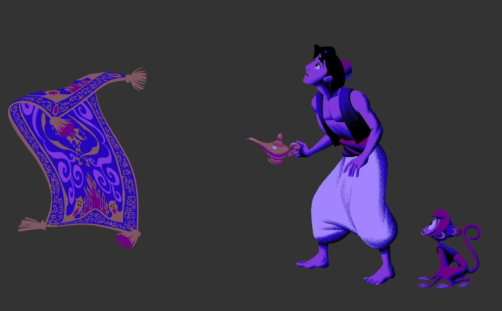 After I Rendered Apu Blocked In The Solid Shapes For Magic Carpet Which Took Me Quite A While Knew Lot Of Details Would Be Covered Once