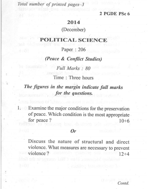 Political science papers