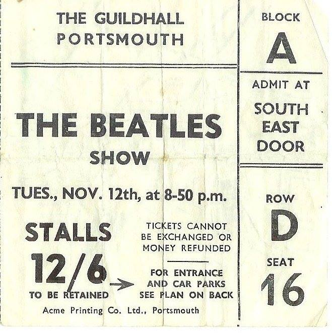 Ticket to see the Beatles