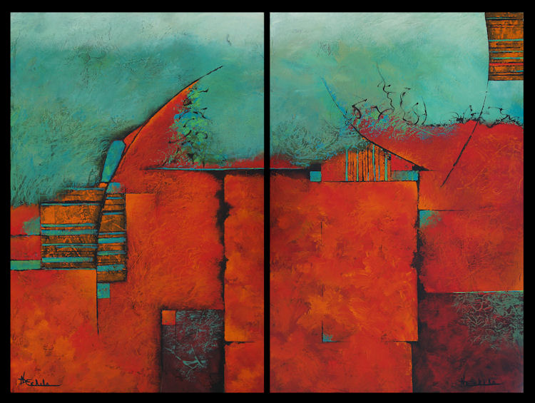 No Day Without Art By Nancy Eckels Impending Diptych By