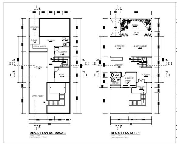 denah rumah minimalis 2 lantai desain rumah minimalis