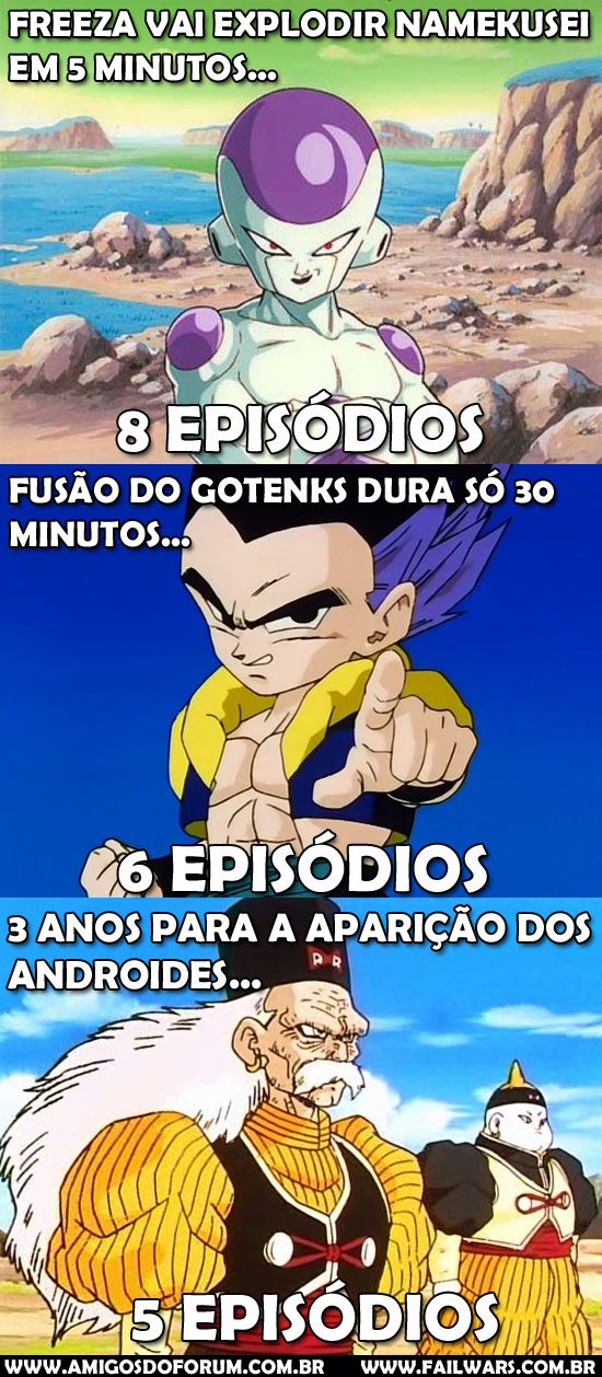 failwars a logica do tempo no dragon ball