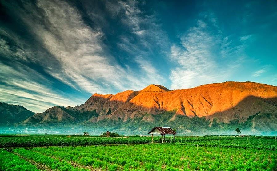 Desa Sembalun Lawang ketinggian 1150 meters - Taman Nasional Gunung Rinjani