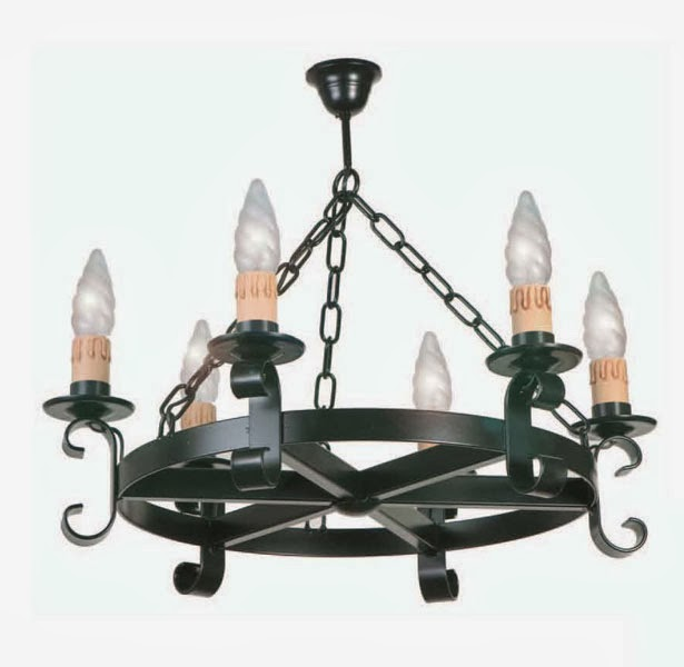 lampara grande forja, lampara colonial, lampara medieval