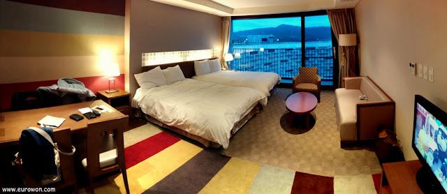 Habitación del Hotel Lotte en Buyeo