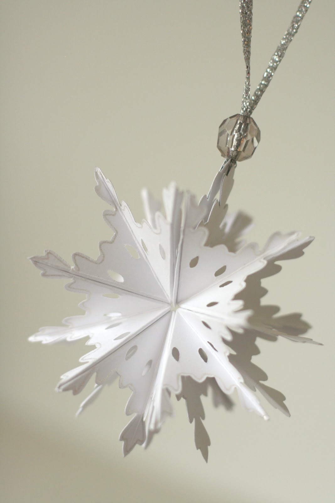 Christmas snowflake ornaments - Foldable Snowflake Ornament