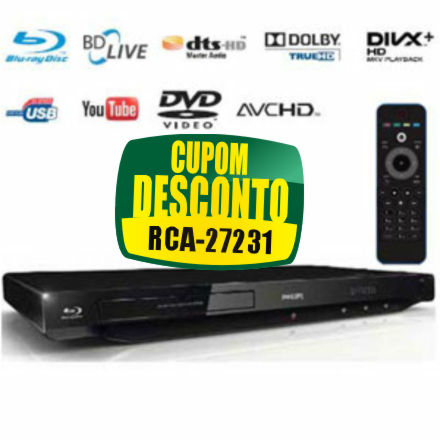 Cupom eFácil - Blu-Ray Full HD Philips BDP3200X/78