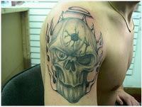 κρανιο τατουαζ skull tattoo
