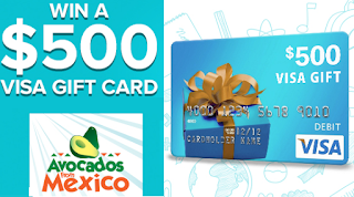 500 visa gift card giveaway from avocados from mexico 115 winners heavenly steals - 500 Visa Gift Card