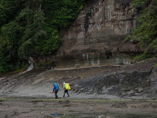 West Coast Trail sea shelf near Sandstone Creek