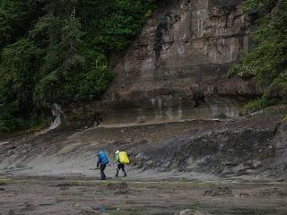 West Coast Trail sea shelf near Sandstone Creek
