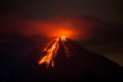 Colima vulkán, Mexikó, természeti jelenség, vulkán, vulkánkitörés, Volcán de Fuego,